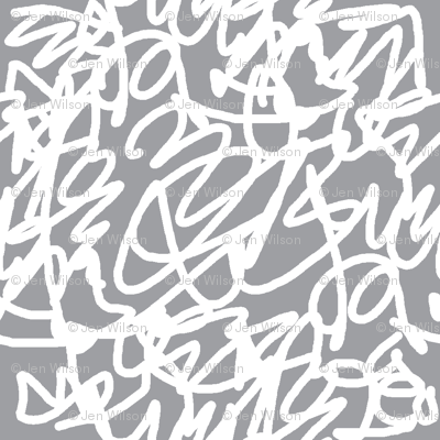scribble white on grey