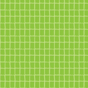 Leaf Green Block Plaid