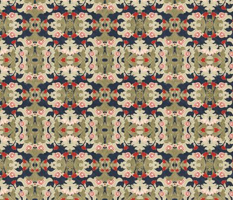 victorian wallpaper antique stripe fabric by kociara on Spoonflower - custom fabric