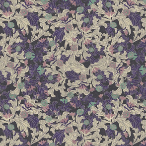 victorian wallpaper antique violet