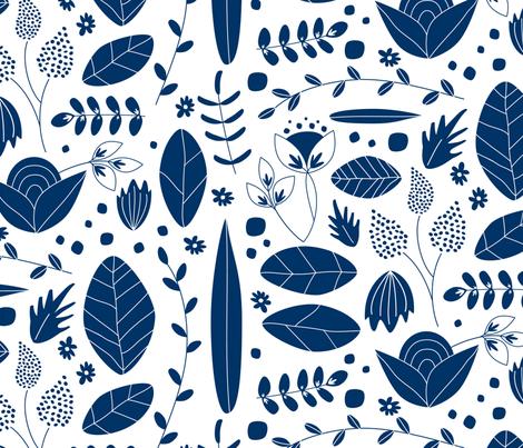 blue fabric by wysedesigns on Spoonflower - custom fabric