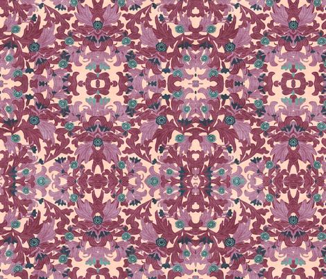 victorian wallpapers antique purple fabric by kociara on Spoonflower - custom fabric