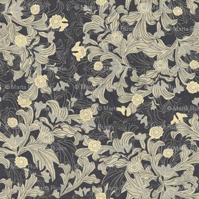 victorian wallpaper antique gold