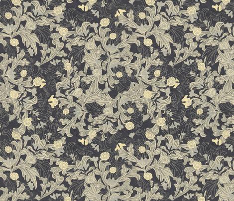 victorian wallpaper antique gold fabric by kociara on Spoonflower - custom fabric