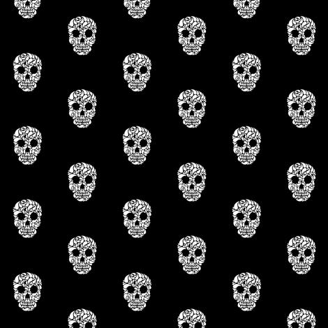 Skullz fabric by brainsarepretty on Spoonflower - custom fabric