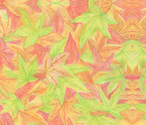 fall watercolour competition fabric by appletree on Spoonflower - custom fabric