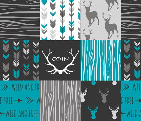 Odin Quilt fabric by sugarpinedesign on Spoonflower - custom fabric