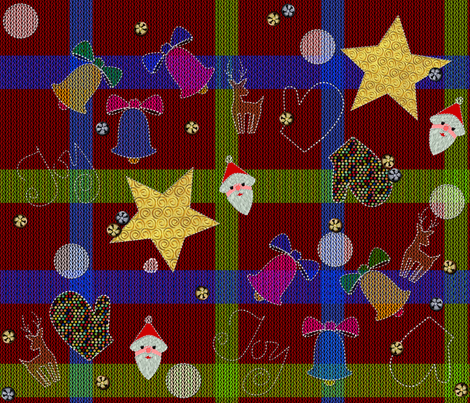 A Butt Ugly Plaid Christmas Sweater fabric by glimmericks on Spoonflower - custom fabric