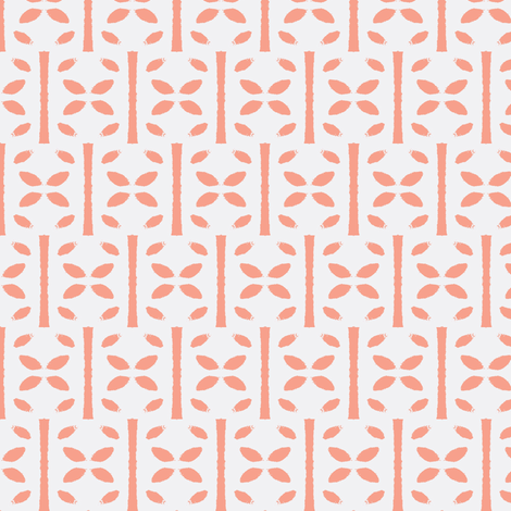 Pie, coral fabric by miamaria on Spoonflower - custom fabric