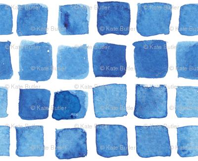 Blue Watercolor Blocks