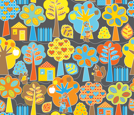 Glowing Forest fabric by christinewitte on Spoonflower - custom fabric