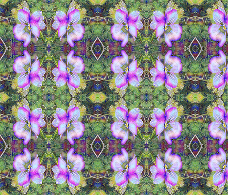 Pansy   - purple tile fabric by koalalady on Spoonflower - custom fabric