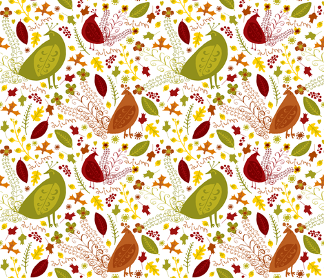 autumn love (white) fabric by pattyryboltdesigns on Spoonflower - custom fabric