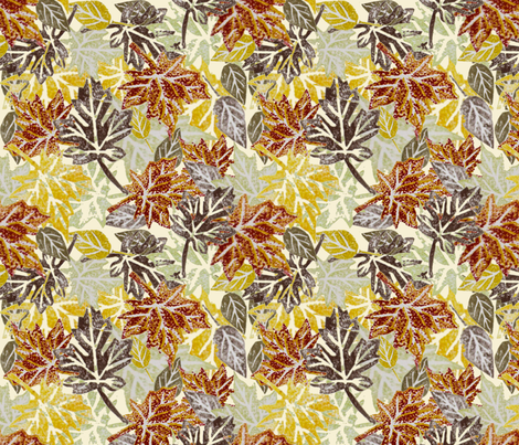 Scattered Autumn Leaves fabric by madex on Spoonflower - custom fabric