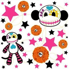 Sugar Skull Monkey Confetti