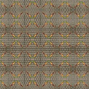 Autumn links on brick