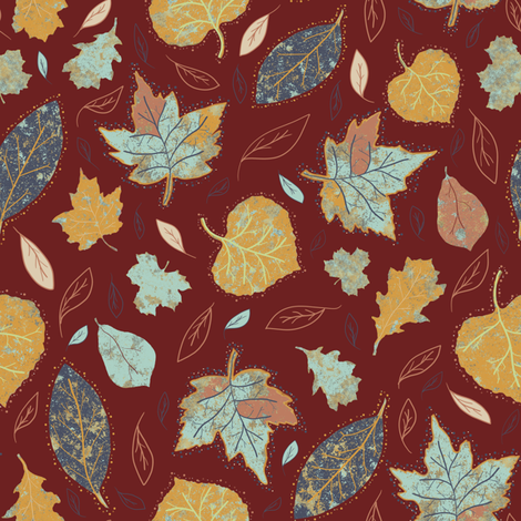Falling Leaves fabric by taramcgowan on Spoonflower - custom fabric