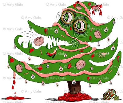 Zombie Christmas Tree small scale