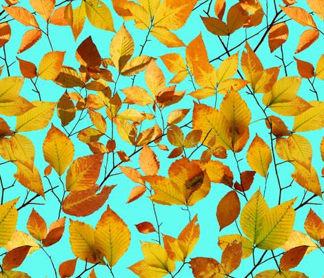 Maine Autumn Leaves fabric by patriciasheadesigns on Spoonflower - custom fabric