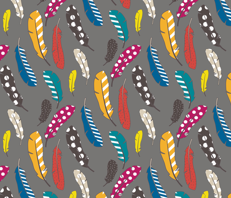 BoldFeathers fabric by mrshervi on Spoonflower - custom fabric