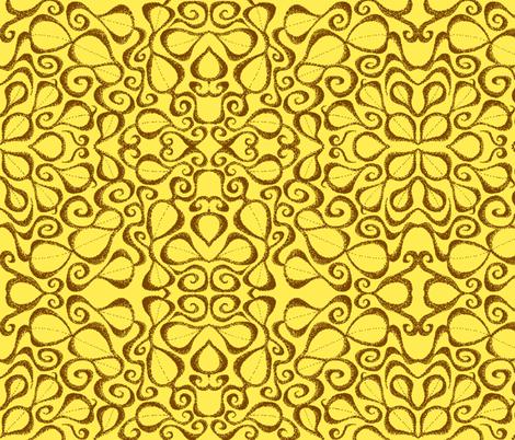 Leaf It, Sunflower, medium fabric by katiame on Spoonflower - custom fabric