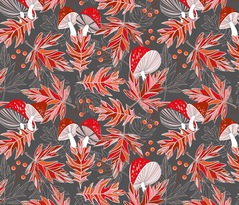 Autumn treasures  fabric by cjldesigns on Spoonflower - custom fabric