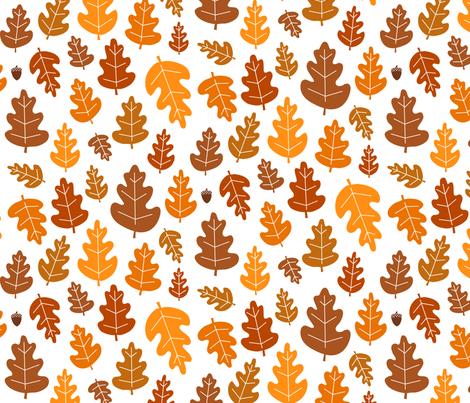 Leaf, Leaf, Acorn fabric by jenimp on Spoonflower - custom fabric