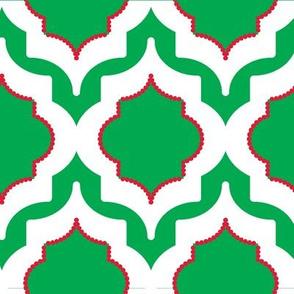 Chrismas Quatrafoile Green