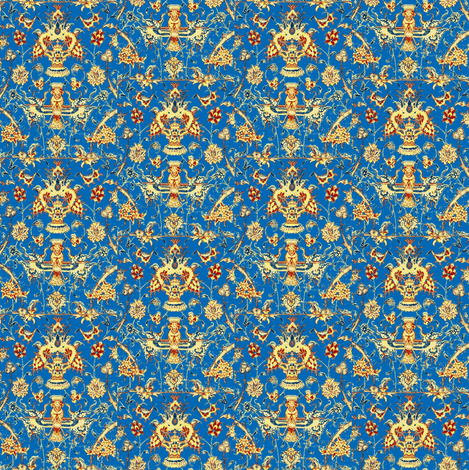 Persian Stripes Sky Blue fabric by amyvail on Spoonflower - custom fabric