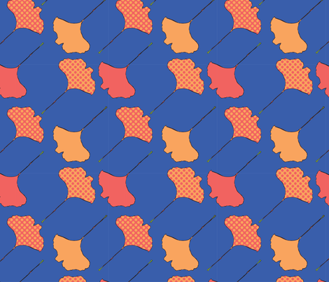 Fall Ginko Leaves fabric by megancarroll on Spoonflower - custom fabric