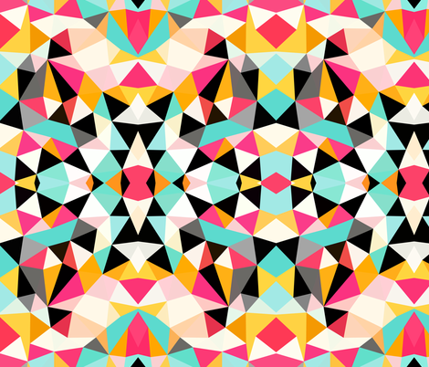 Kawaii Tribal fabric by beththompsonart on Spoonflower - custom fabric