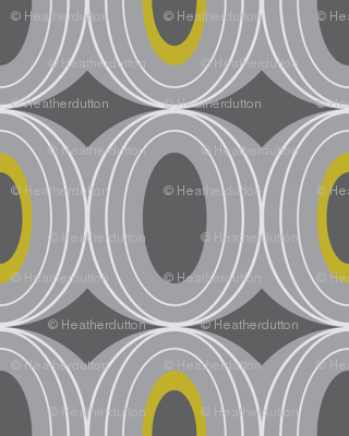 Chillout - Retro Geometric Midcentury Modern Grey