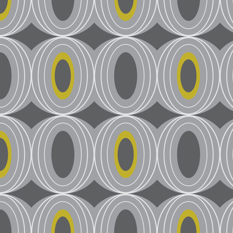 Chillout - Retro Geometric Midcentury Modern Grey fabric by heatherdutton on Spoonflower - custom fabric
