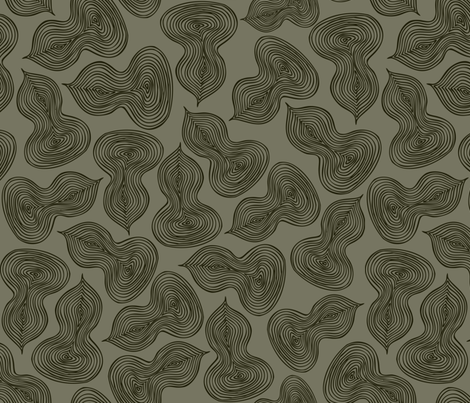 Leaflet - Abstract Leaf Geometric fabric by heatherdutton on Spoonflower - custom fabric