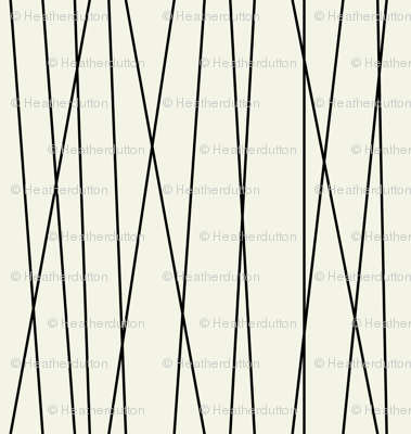 Linear Cross - Modern Geometric Lines Cream & Black