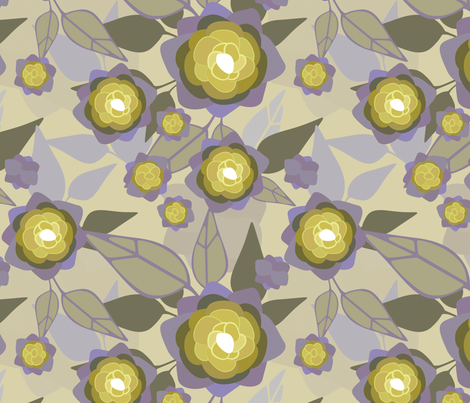 yellow plants fabric by jennifurryrabbit on Spoonflower - custom fabric