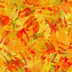 Autumn leaves sumac