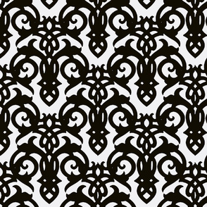 Black & White Imperial Damask