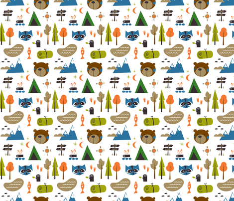 into the woods fabric by shindigdesignstudio on Spoonflower - custom fabric