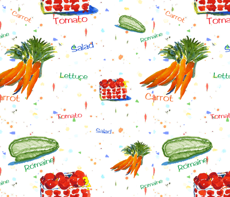 Salad fabric by moxieart on Spoonflower - custom fabric