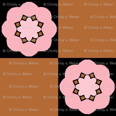 Pinky Brown Check 1