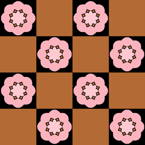 Pinky Brown Check 1 fabric by chrisanne on Spoonflower - custom fabric