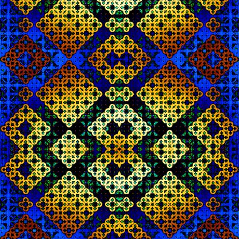 27_Blue_n_Gold_Morocco fabric by phosfene on Spoonflower - custom fabric