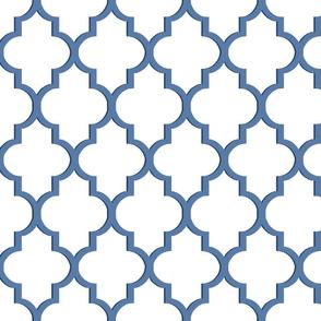 Nautical Blue Dimensional Quatrefoil