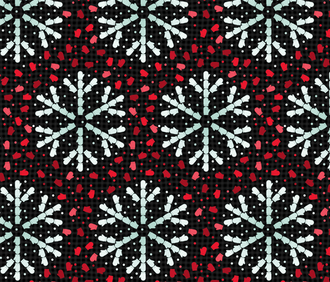 Mitten-flakes fabric by analinea on Spoonflower - custom fabric