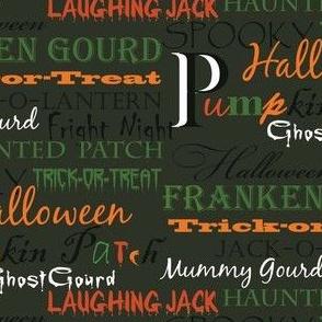 Charcoal Halloween Type