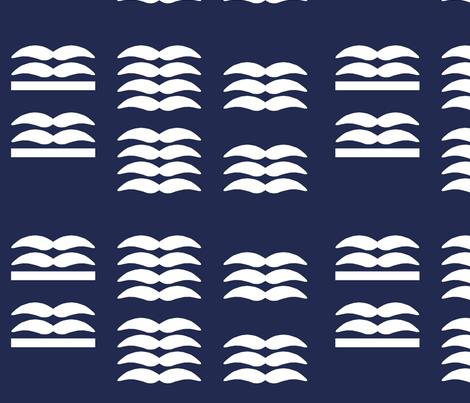 LW Gull Eagle Rank Print fabric by ricraynor on Spoonflower - custom fabric