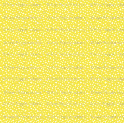 Airwaves* (Diamond Dust) || atomic midcentury modern stars sky  sun sunshine lemon yellow spring summer baby nursery