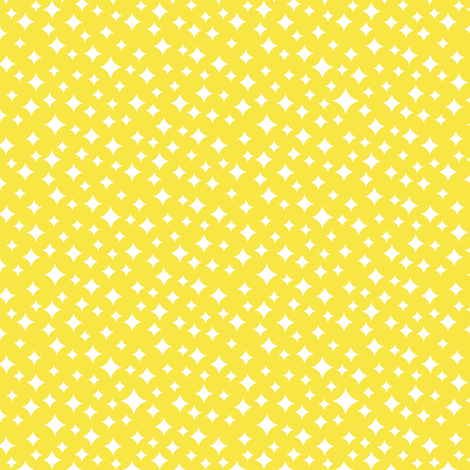 Airwaves* (Diamond Dust) || atomic midcentury modern stars sky  sun sunshine lemon yellow spring summer baby nursery fabric by pennycandy on Spoonflower - custom fabric