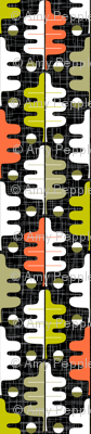 Oakhurst (Maxi Black) || midcentury modern graphic oak leaf leaves barkcloth bark cloth texture geometric upholstery